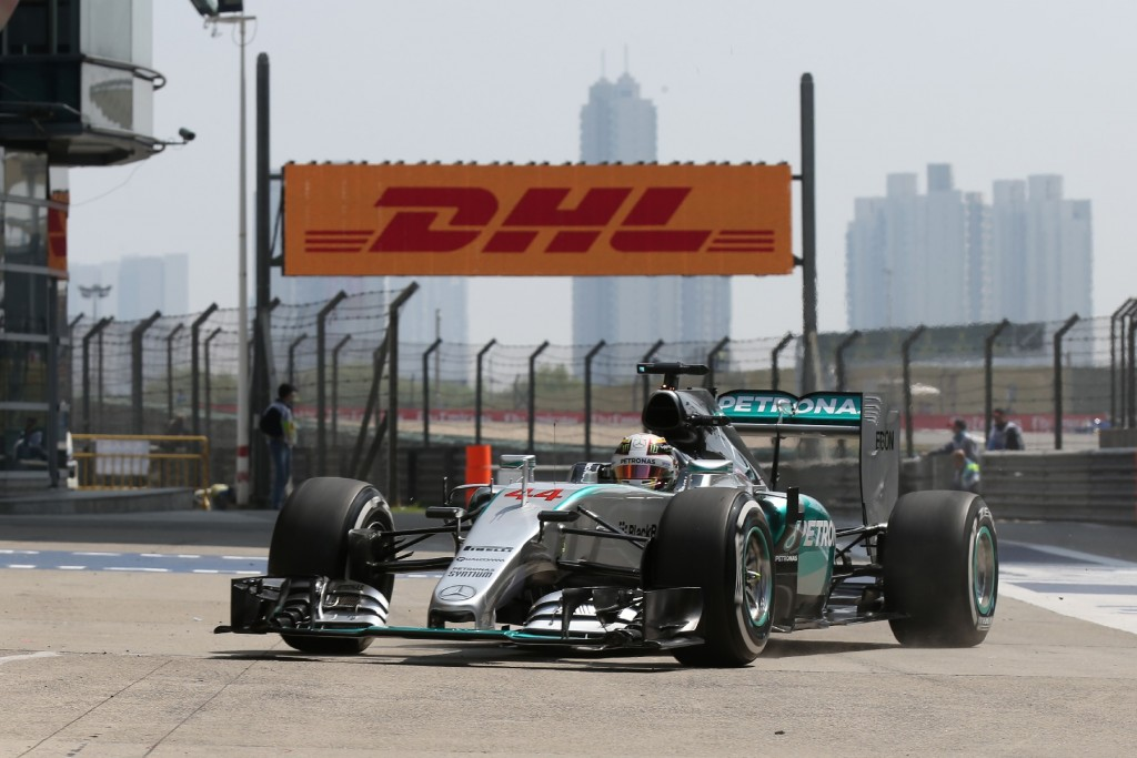 Hamilton controls Mercedes one-two in China