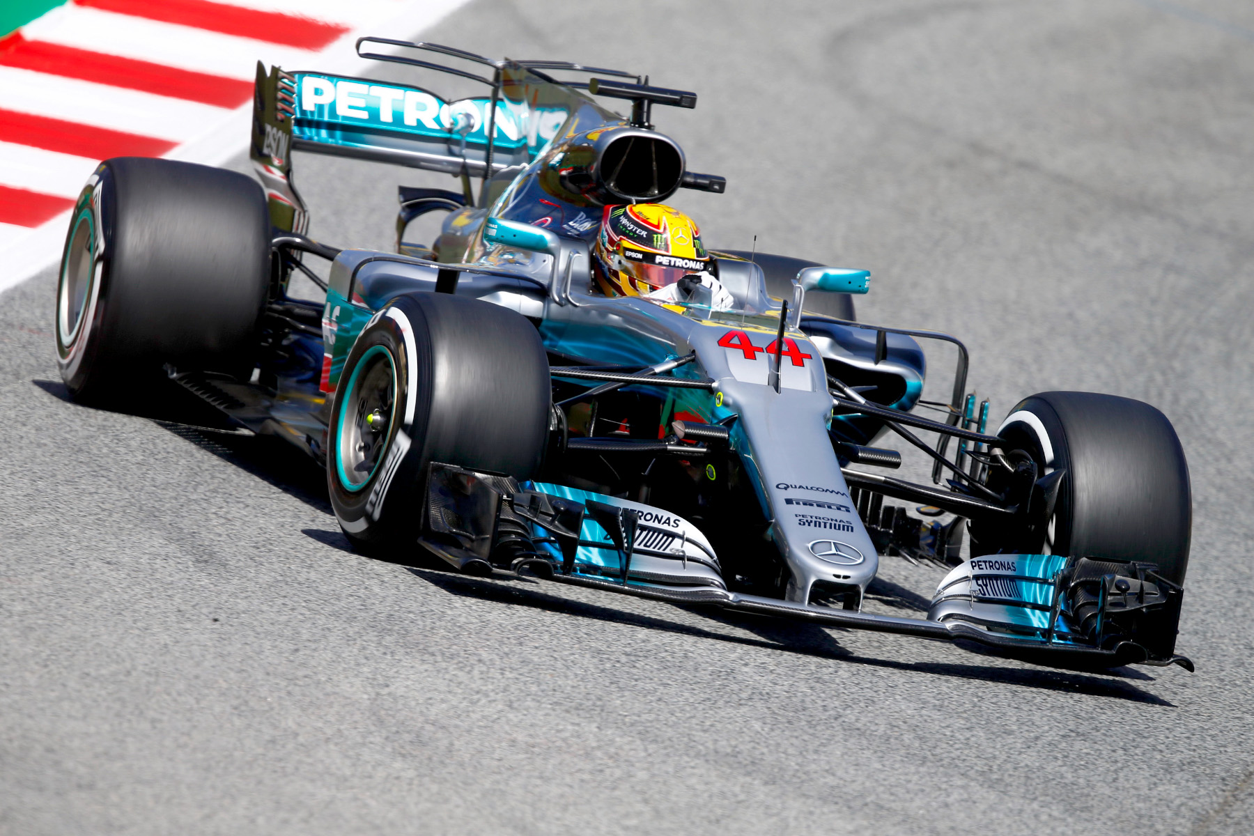 Lewis Hamilton navigated his way to victory at Spain's Circuit de Barcelona-Catalunya