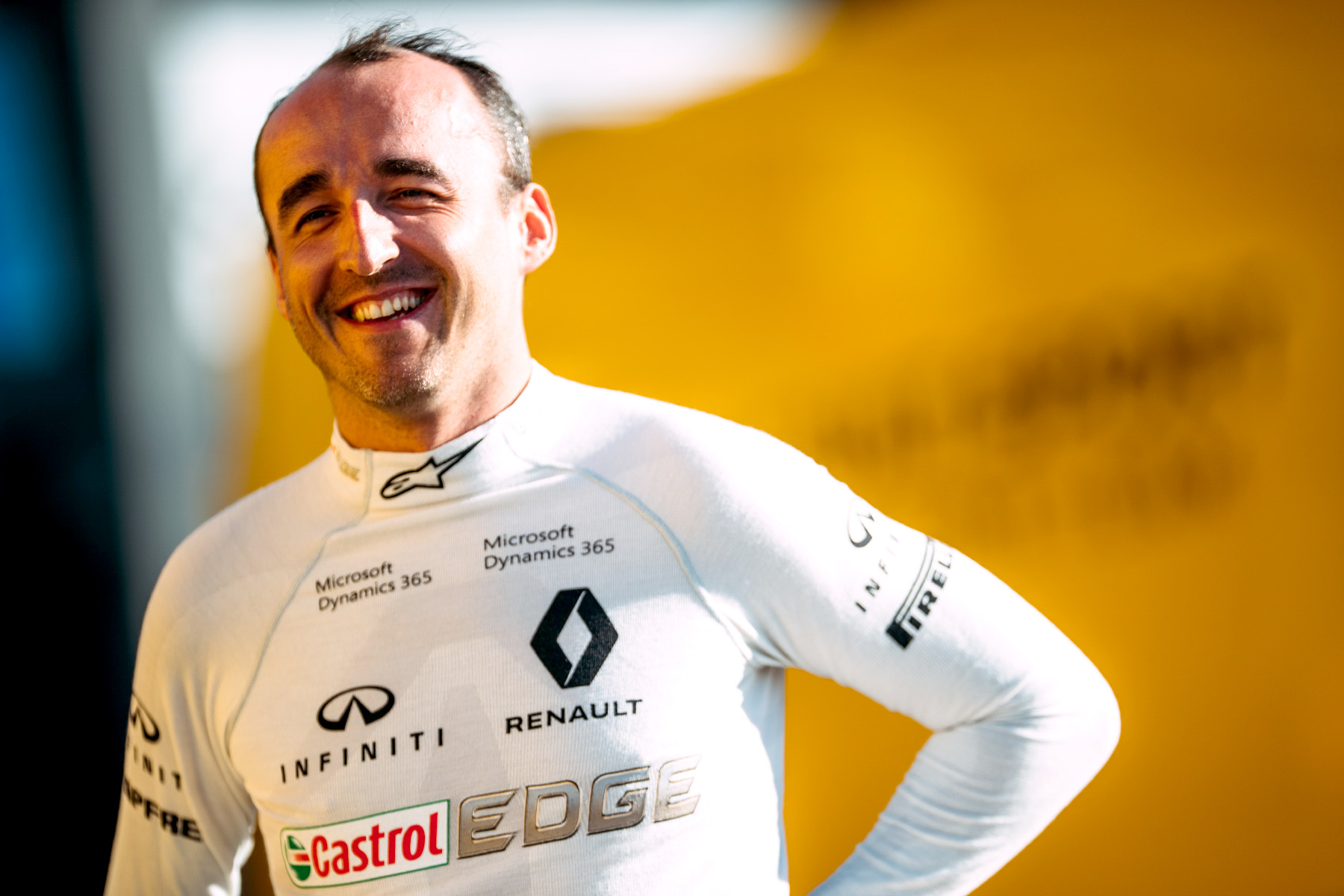 Robert Kubica at his private Renault test in Valencia