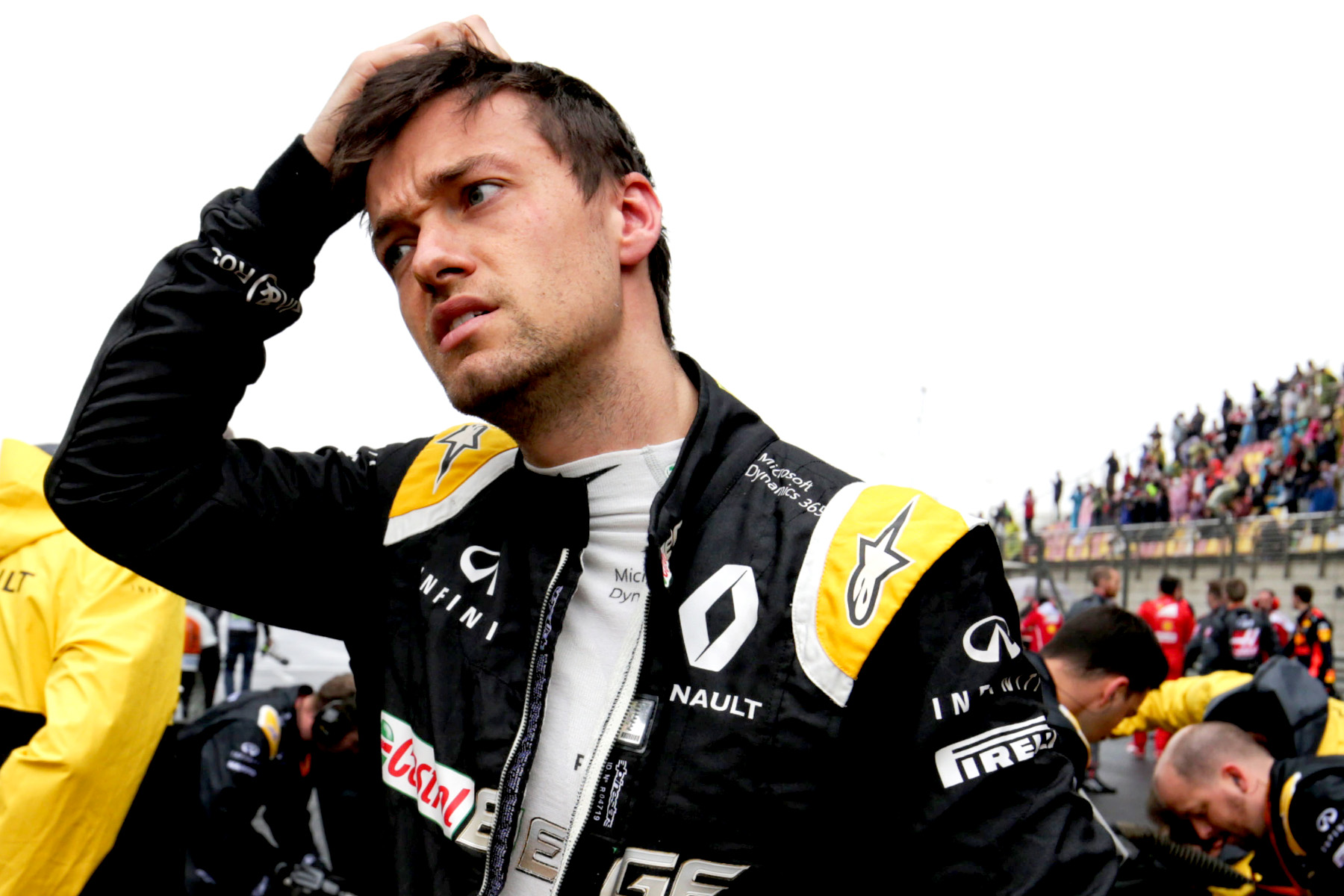 Jolyon Palmer on the grid.