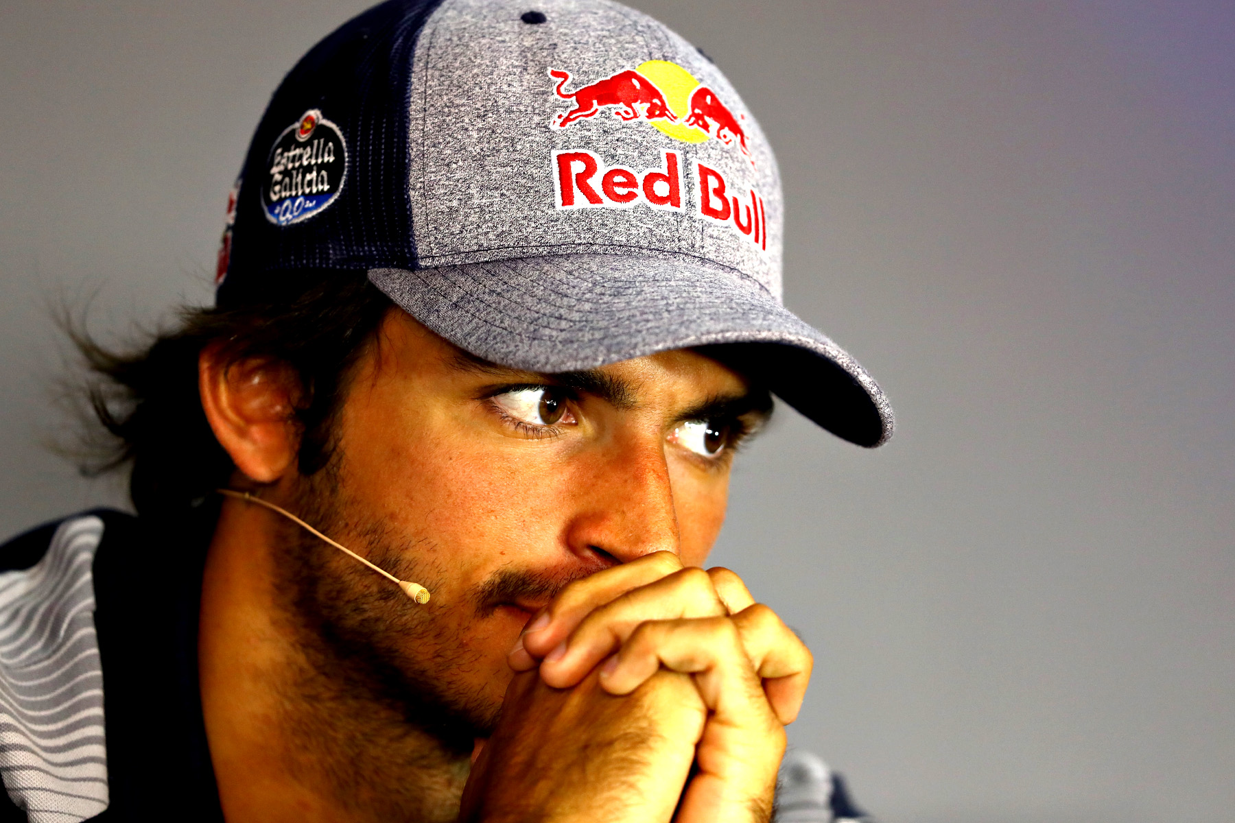 Carlos Sainz in the post-Austrian Grand Prix FIA press conference.