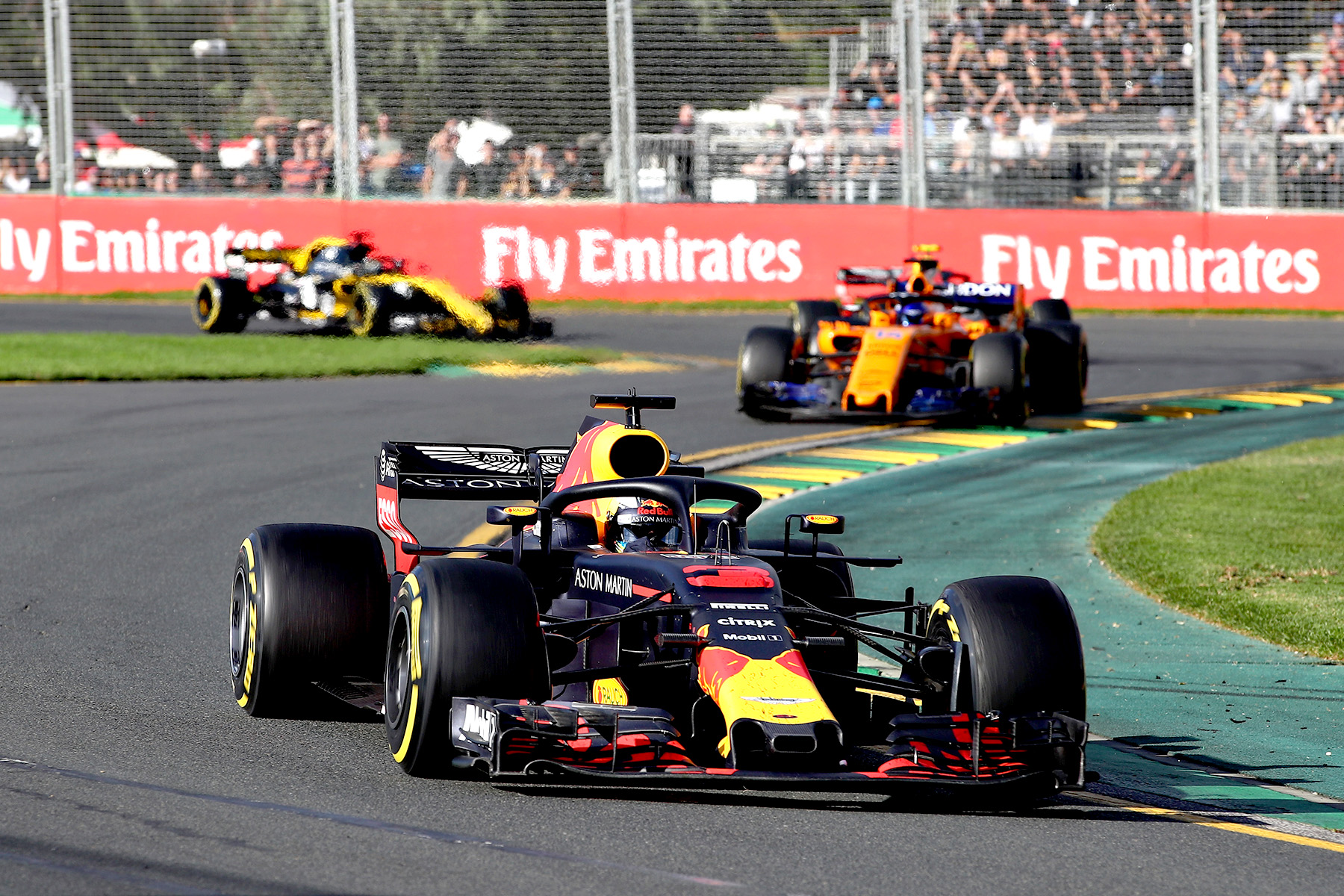 Daniel Ricciardo on track during the 2017 Australian Grand Prix.