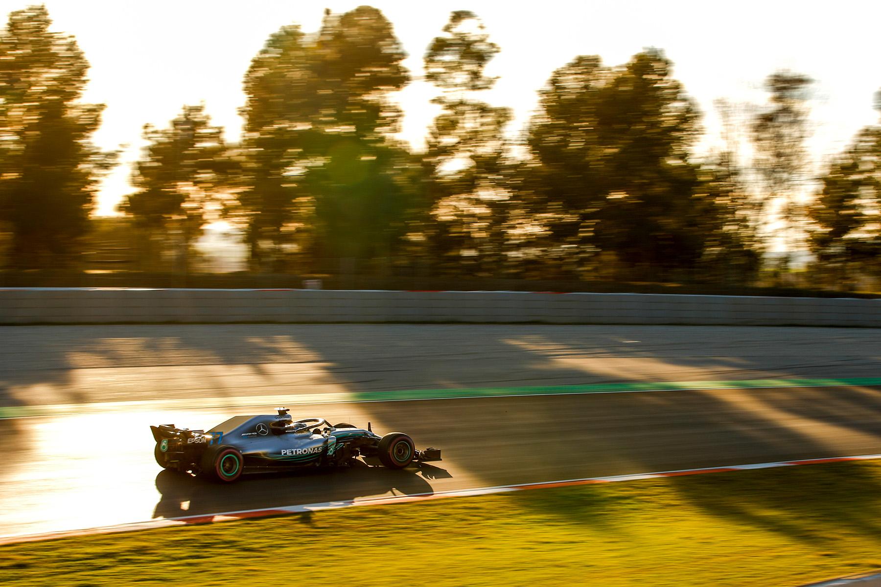 Valtteri Bottas testing in Barcelona