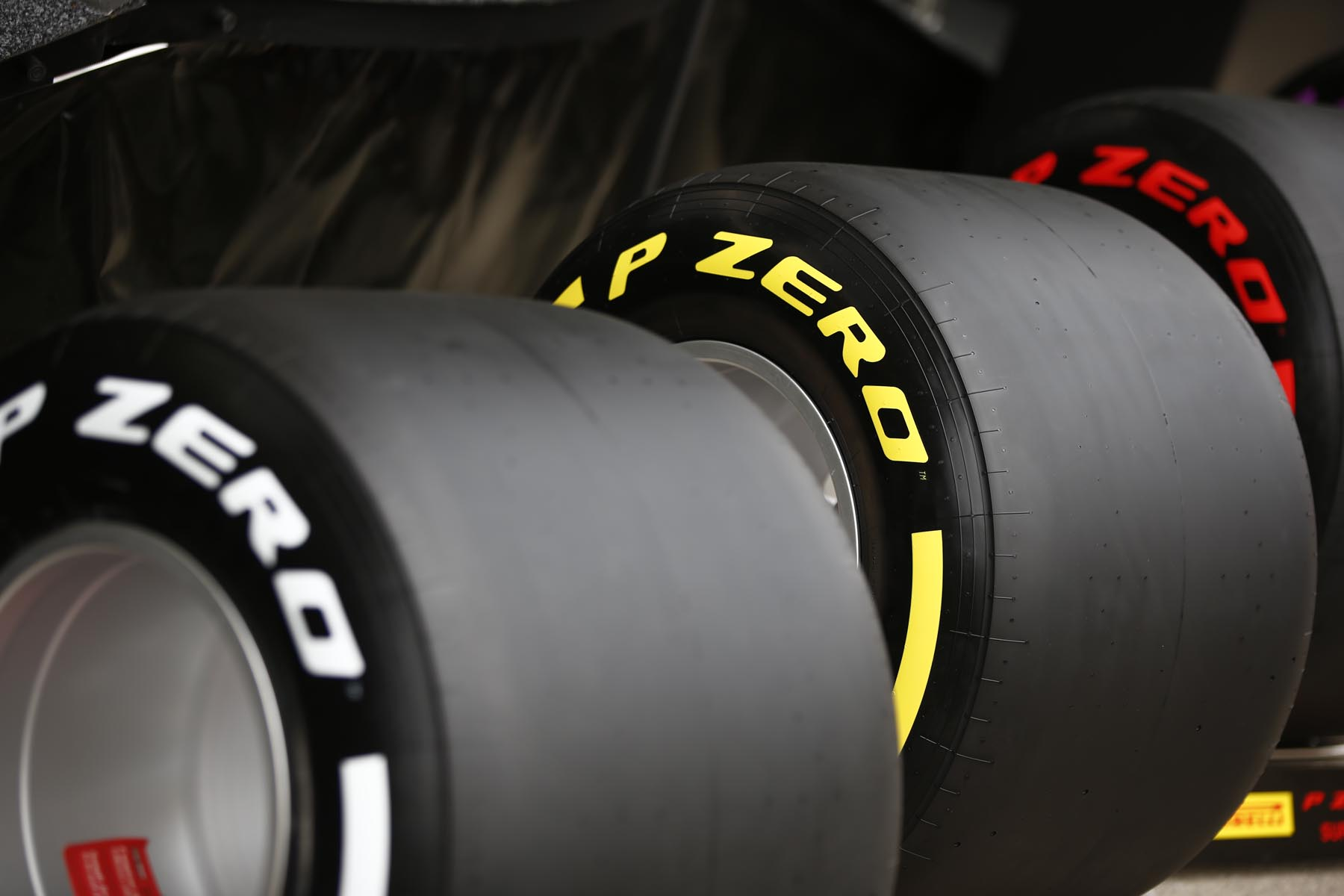 Pirelli's medium, soft and supersoft-compound tyres at the 2018 Spanish Grand Prix.