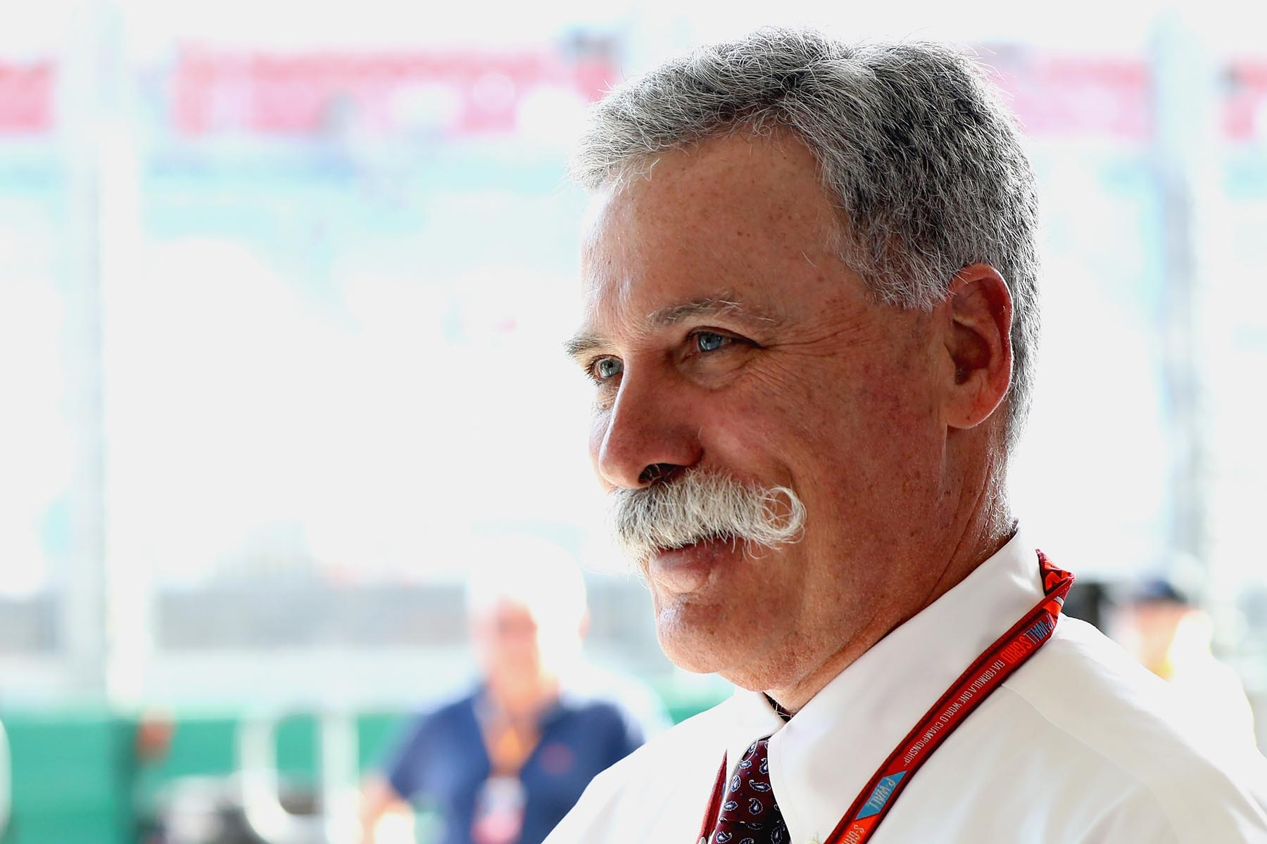 Chase Carey in the Red Bull Racing garage at the 2018 Australian Grand Prix.