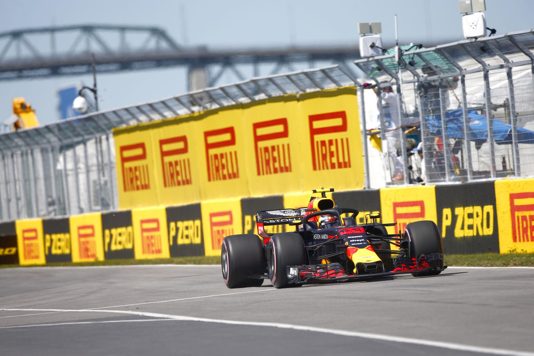 Max Verstappen on track at the 2018 Canadian Grand Prix.