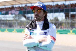 Fernando Alonso at the 2018 British Grand Prix.