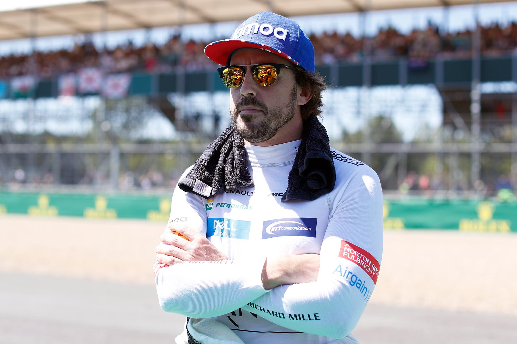 Fernando Alonso at the 2018 British Grand Prix.