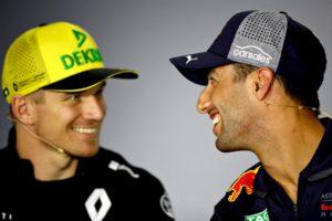 Daniel Ricciardo and soon-to-be teammate Nico Hulkenberg