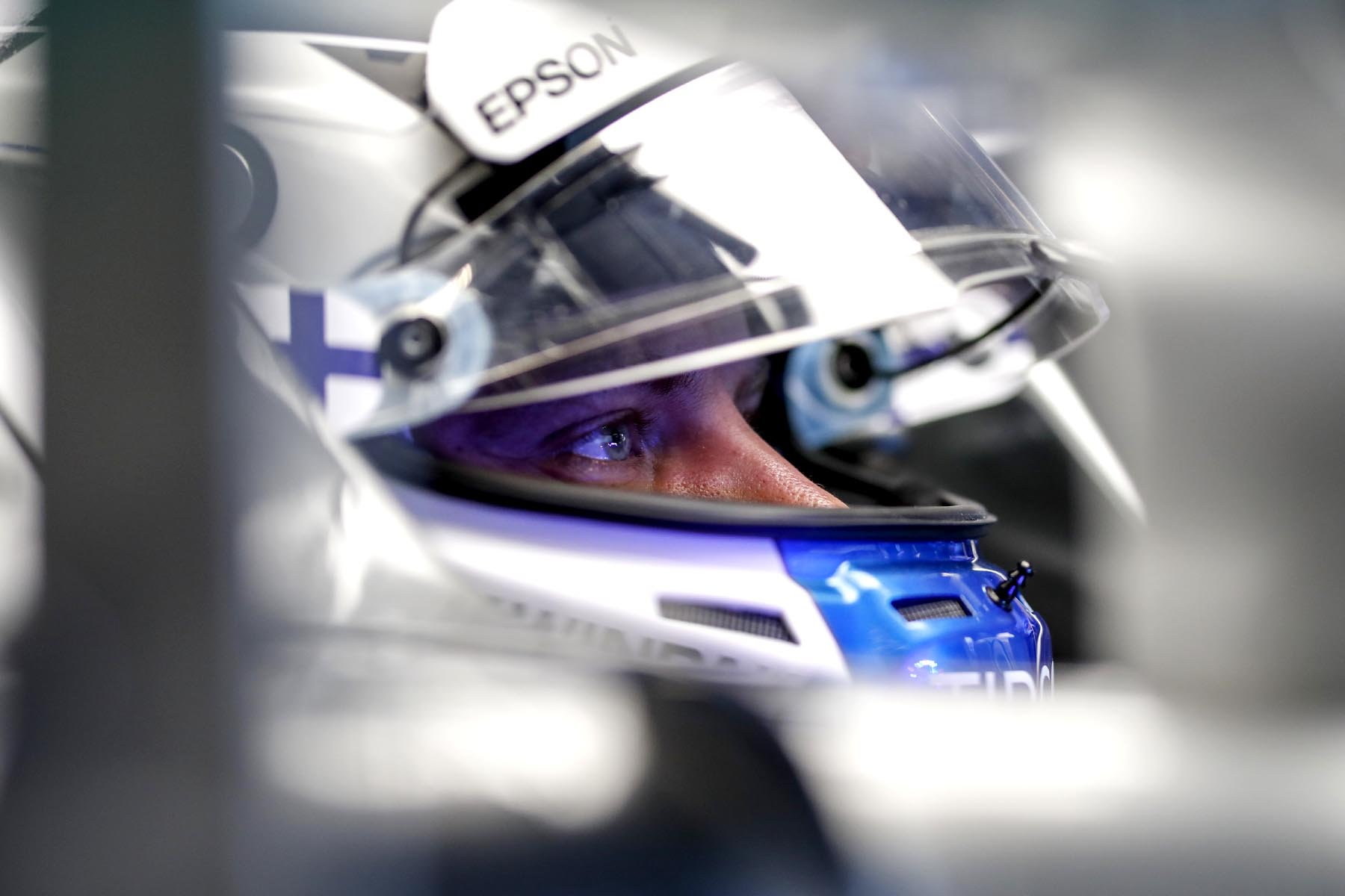 Valtteri Bottas in his car at the 2018 United States Grand Prix.