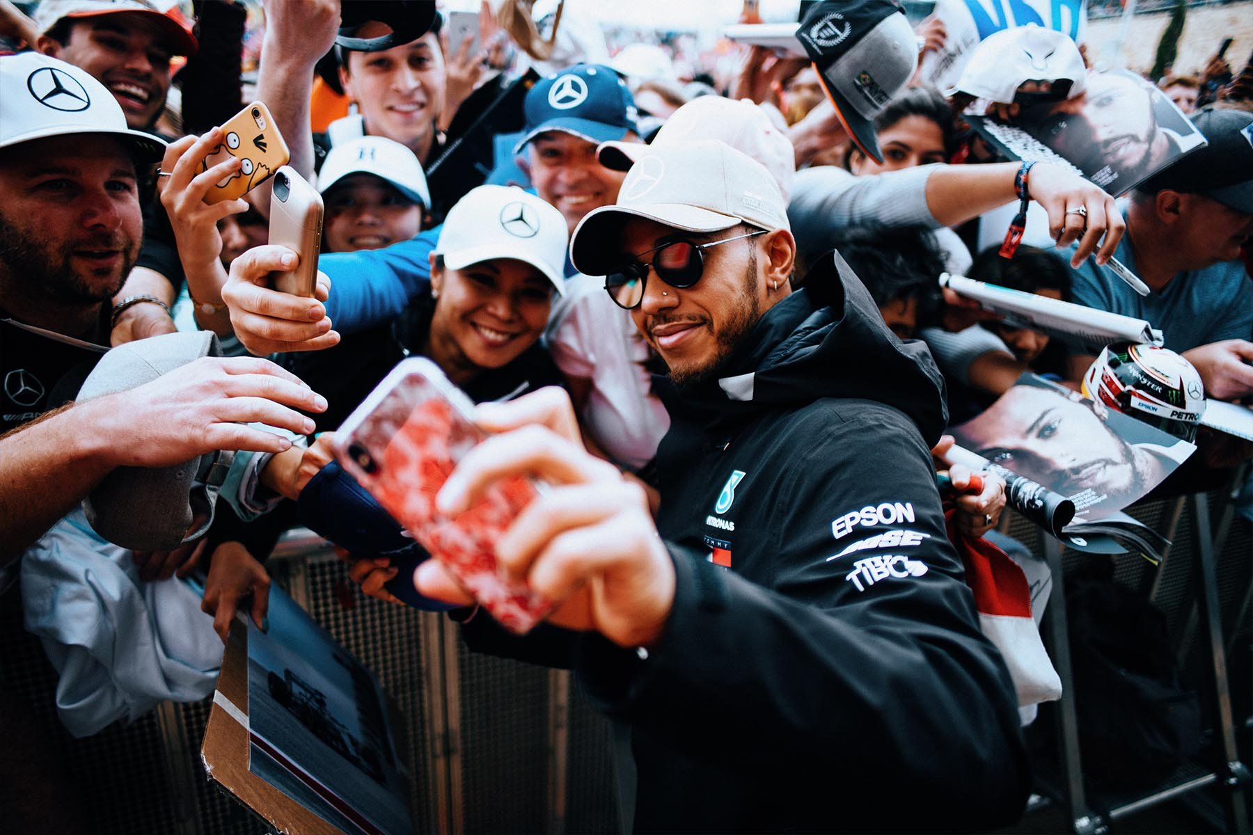 Lewis Hamilton at the 2018 United States Grand Prix.