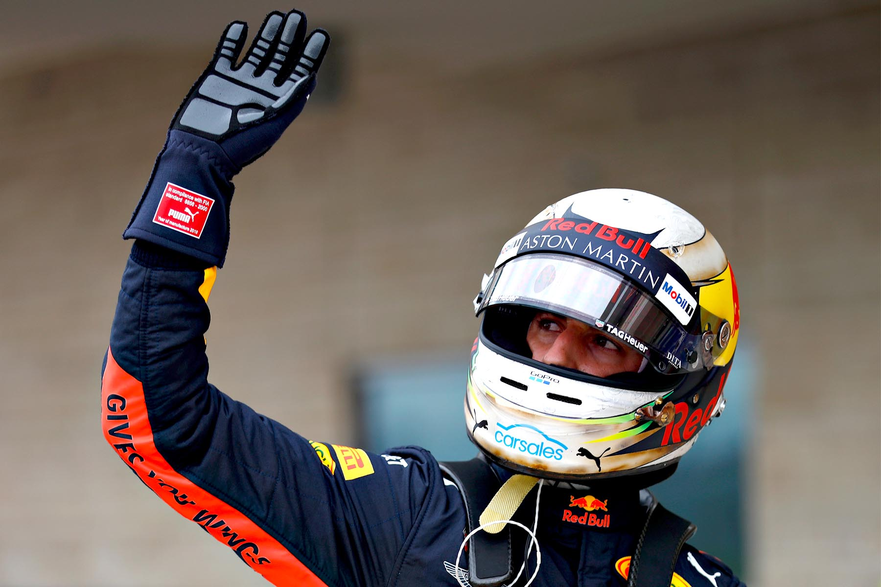 Daniel Ricciardo post-qualifying at the 2018 United States Grand Prix.