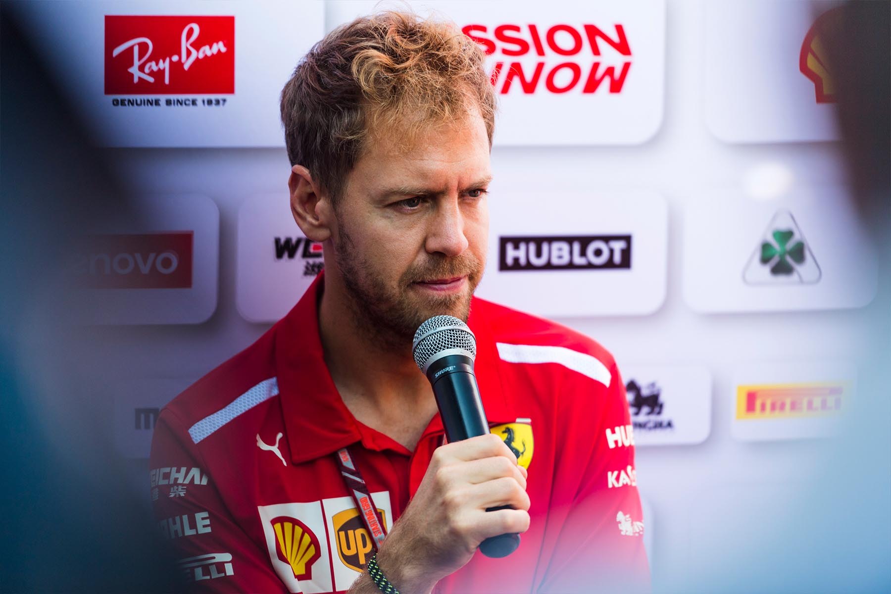 Sebastian Vettel at the 2018 Mexican Grand Prix.